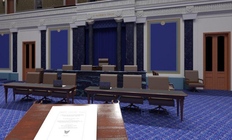 Speakers Podium US Senate 3D Model