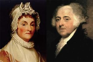 Political John and Abigail Adams, image
