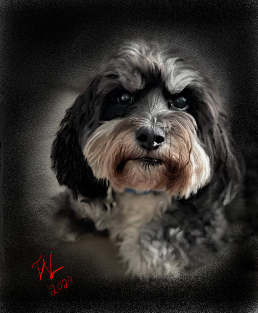 Painting of Charlie Bear